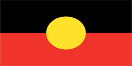 Hire Aboriginal Flag - large stage prop set background